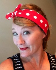 Crafting with Brandy with Rosie the Riveter Headband