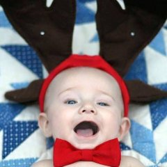 Red Bow Tie for Grady's 1st Christmas